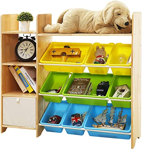 MallBest 4-Tier Kids Toy Storage Organizer Shelf
