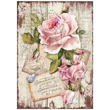 carta di Riso Sweet Time Rose, 21 x 29.7 cm, Multicolore: Amazon.it ...