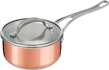 Nouveau Cuivre Effet Aluminium Antiadhésif Poêle Casserole Cuisson Cuisine