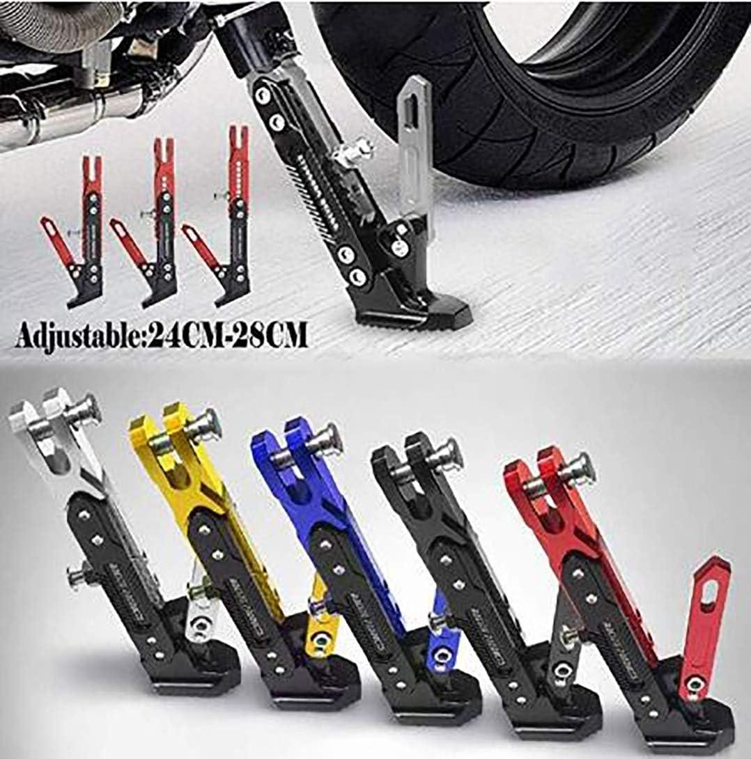 CNC de aluminio secundarios soportes ajustables pata de cabra ajustable durable del sostenedor del tr/ípode Accesorios Pie pata de cabra lateral Accesorios de moto Color : Azul