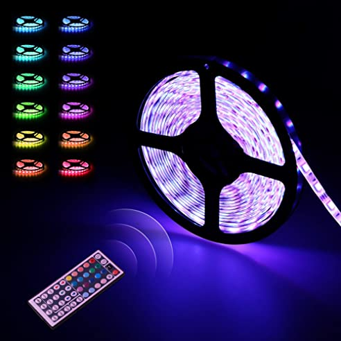 LED Strip | LED Streifen | infinitoo 5M 5050 RGB 300er LEDs mit ...