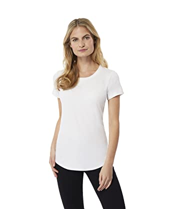 daa598d453b7 Amazon.com: 32 DEGREES Women Cool Luxe Modal Short Sleeve Tee Shirt ...