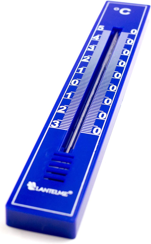 Lantelme 6 St/ück Multifarben Thermometer Set f/ür Innen Au/ßen Garten Balkon Terasse Analog 5669