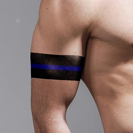 Tatuaje para brazalete, línea azul fina, 8 unidades, fabricado en ...