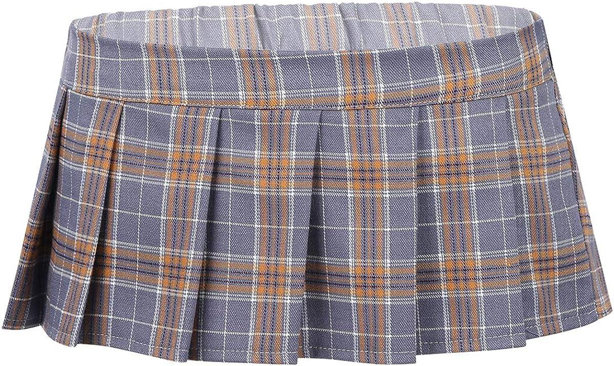 IEFIEL Falda Cuadros Escoceses Mujer Sexy Mini Falda Corto ...