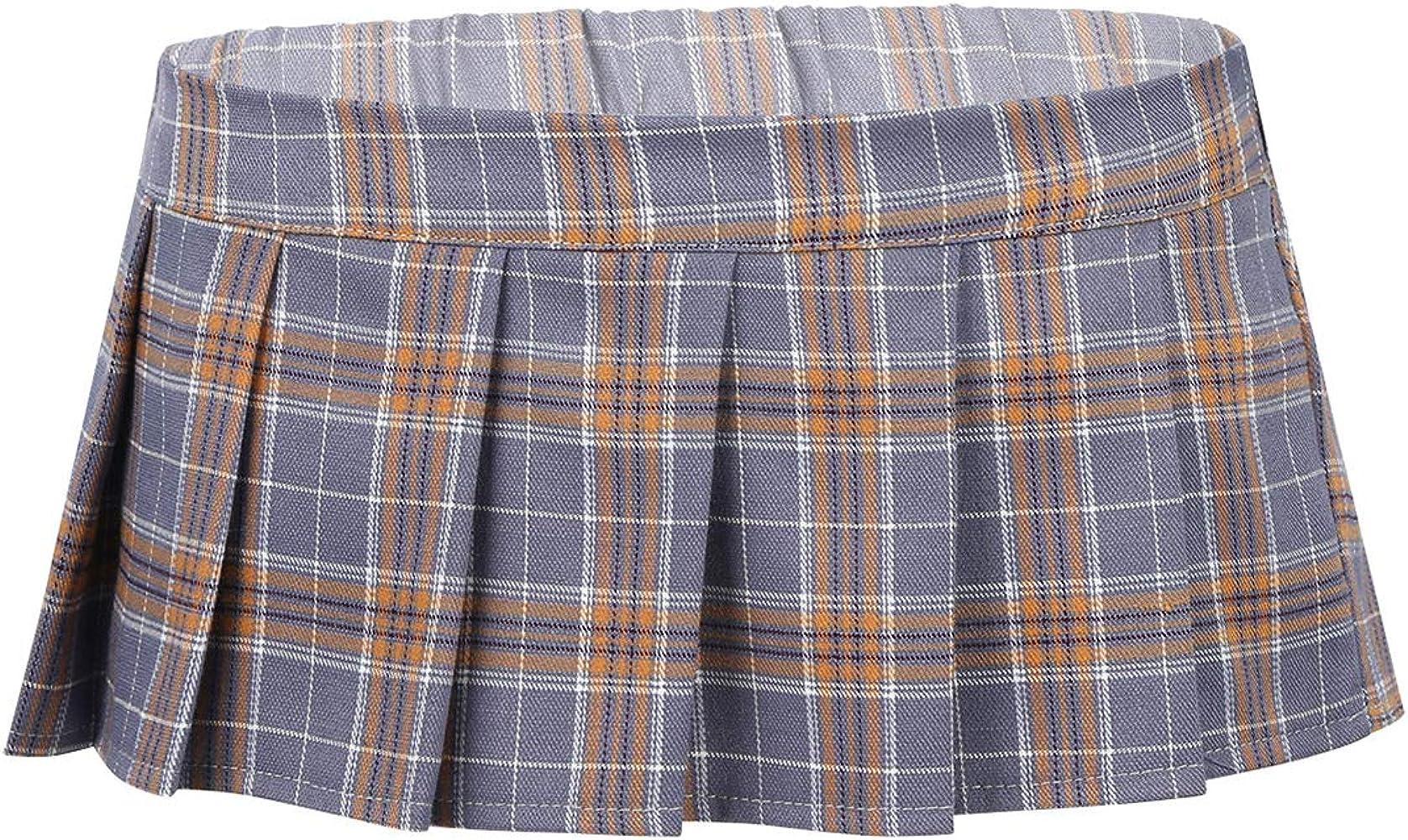CHICTRY Mini Falda Plisada a Cuadros Mujer Sexy Uniforme Escolar ...