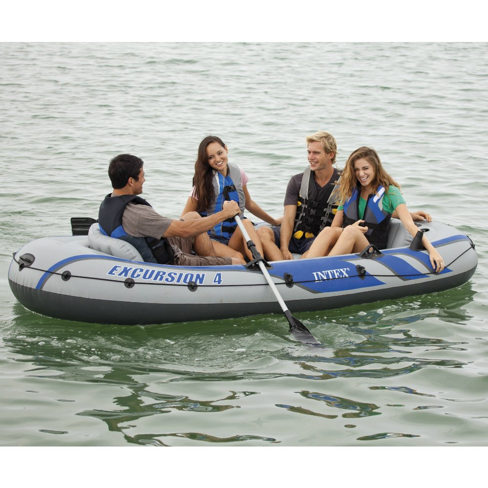 4 person boat inflatable raft fishing dinghy floating for 4 person fishing boat
