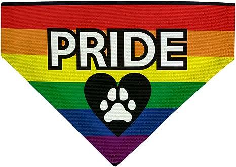 Dog Bandana Pride Dog Bandana Gay Pride Print Dog Bandana Cute Dog Print Dog Bandana Rainbow Paw Print Dog Bandana Rainbow Bandana