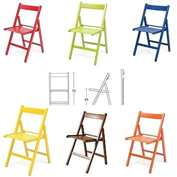 BUIANI 6 sillas de Colores Plegable Silla de Madera ...