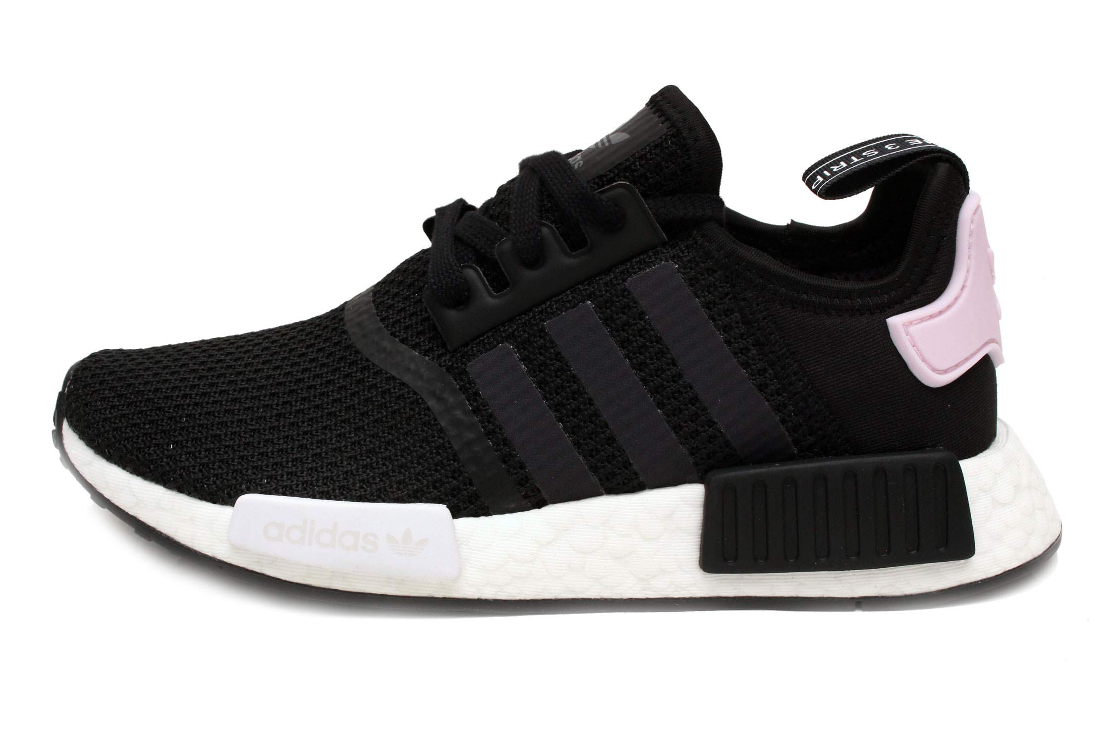 2787d4202045b Galleon - Adidas Originals NMD R1 Shoe Women s Casual 9.5 Black-White-Clear  Pink