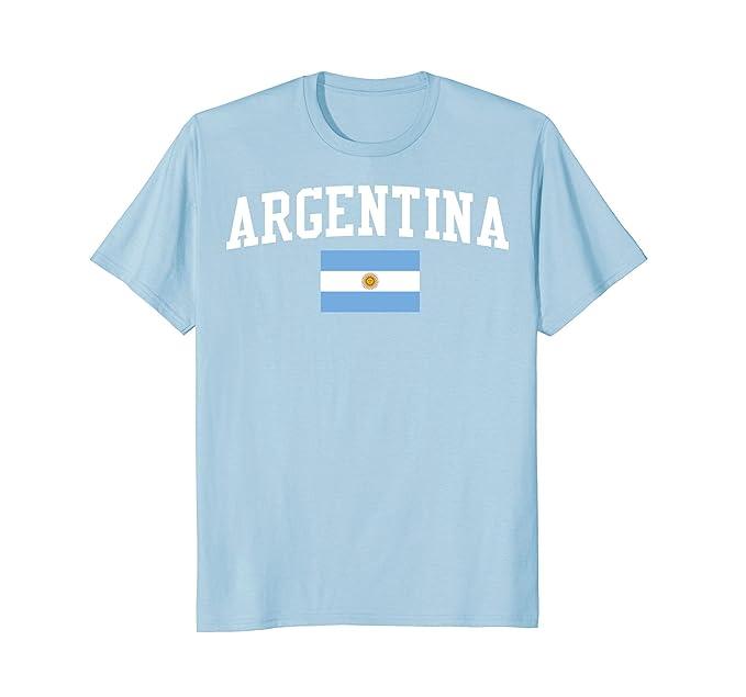 Mens Camisa De Argentina Argentinian Flag shirts Bandera y Escudo 2XL Baby Blue