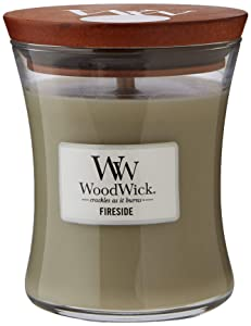 WoodWick Candle Medium Fireside 92106E, one Size.