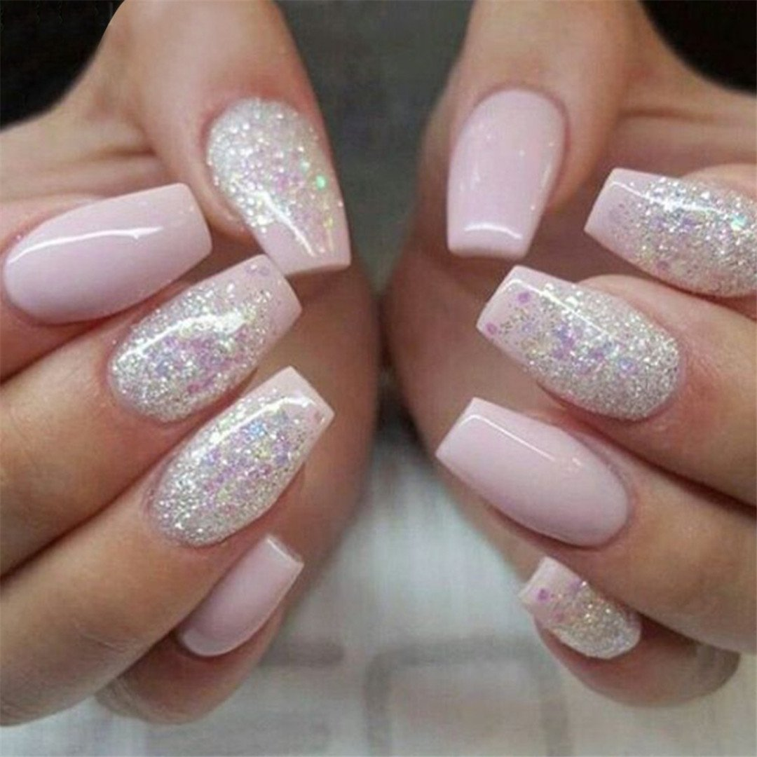 Amazon.com : 500Pcs Fashion Fake Nails Press On Girls Finger Beauty ...
