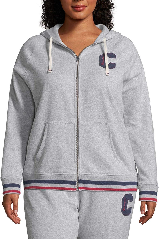 Champion Womens Plus Heritage Logo Full-Zip Athletic Jacket
