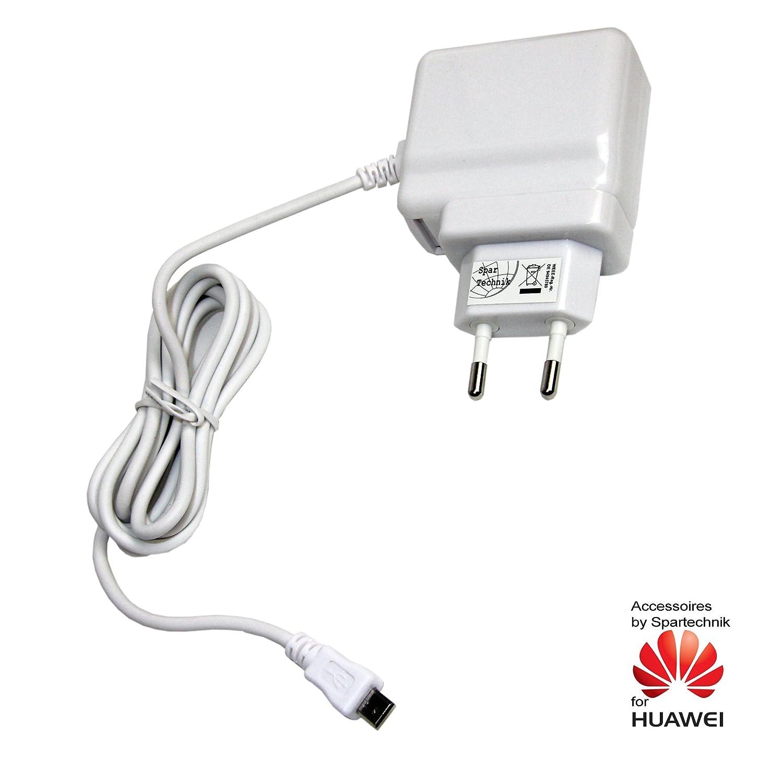 wei/ß Ladeger/ät Spartechnik 230V Schnellladeger/ät mit 2 Ampere Huawei Tablet MediaPad 10Link Reiselader 110-230 Volt 2A