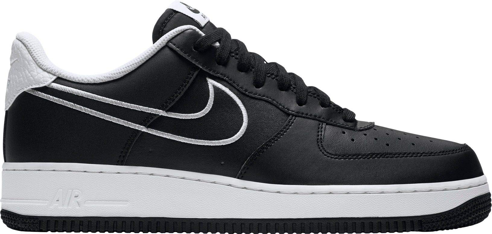 NIKE Men's Air Force 1 '07 Leather Shoe Black/White, 11.5