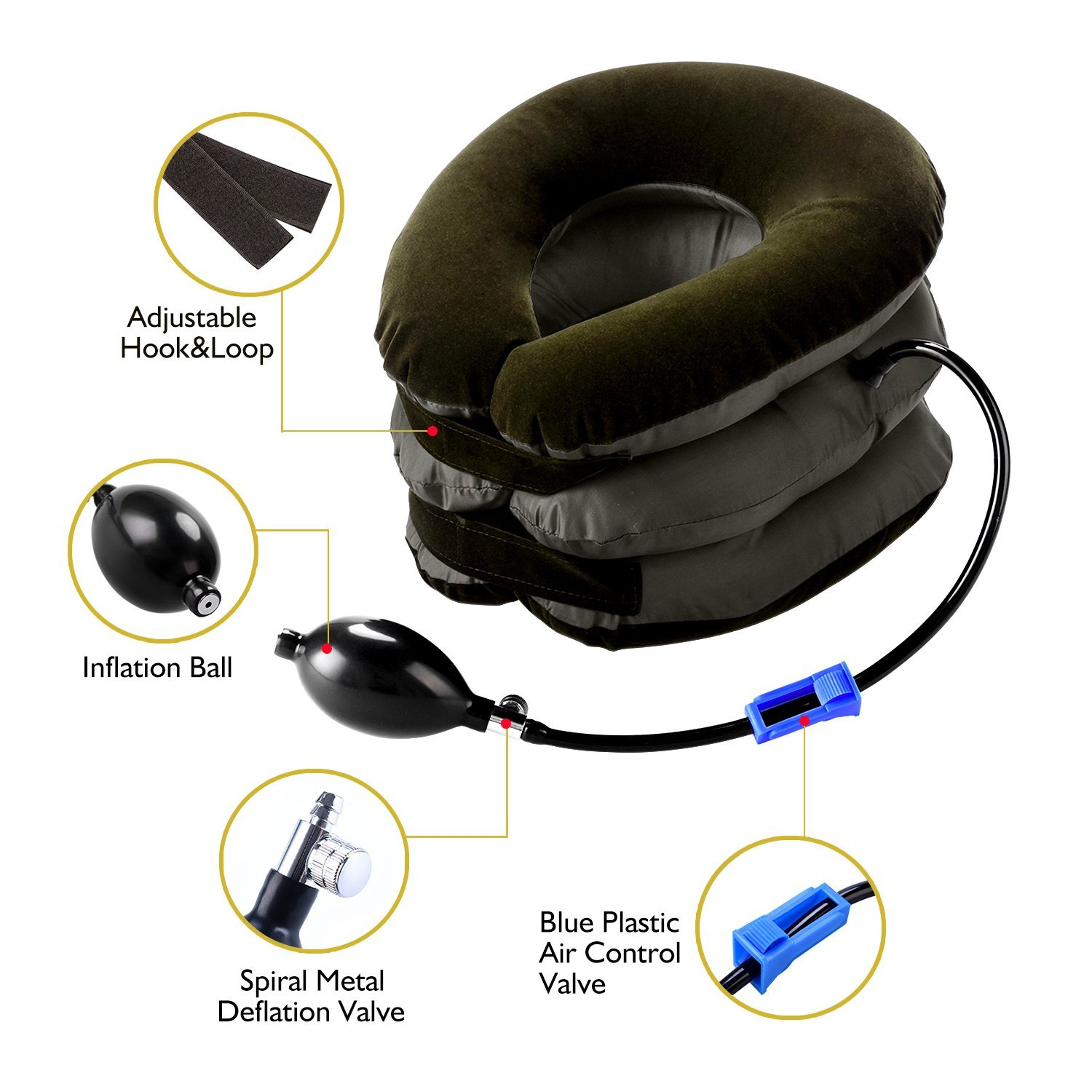 P PURNEAT Cervical Neck Traction Device – Instant Pain Relief for Chronic Neck and Shoulder Pain – Effective Alternate Pain Relieving by P PURNEAT (Image #3)