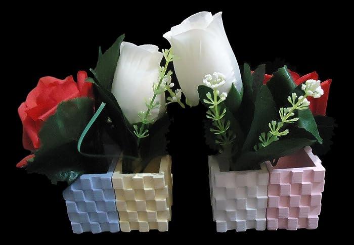 Doppelte Kubische Vase   Vase   Keramikharz Mit Personalisierten Farben Für  Jeden Der 2 Töpfe