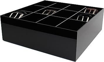 Caja para cinturón Estellani® / caja, Color negro, brilliant acrílico, cinturones, para organizador, cinturón, para almacenamiento: Amazon.es: Bricolaje y herramientas
