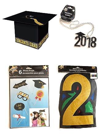 Amazon Com Graduation Party Decorations Graduation Cap Card Box