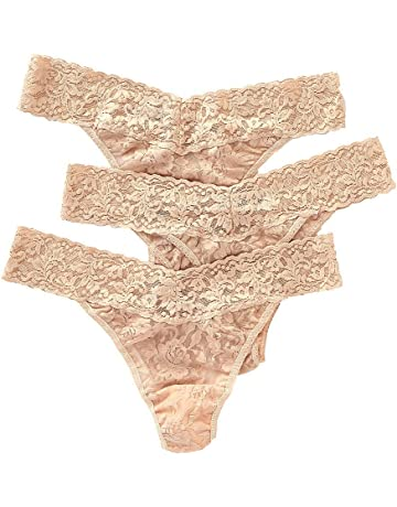 f9ce79b9d4d Hanky Panky Women s Signature Lace Original Rise Thongs - One Size - (Pack  of 3