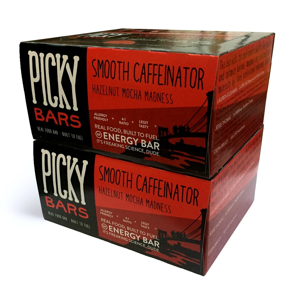 Picky Bars Real Food Energy Bars, Smooth Caffeinator, 1.6oz (Pack of 20)