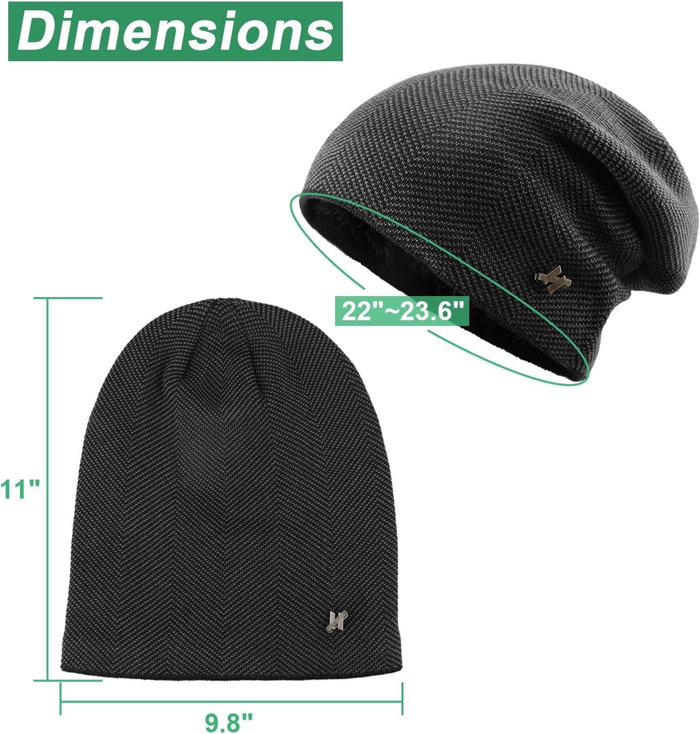 Magarrow Outdoor Winter Beanie Warm Knitted Hat Sports Hat Skiing Cycling Running Hiking Men Women Unisex