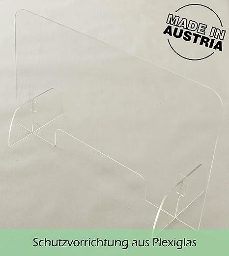 100 x 60 cm Spuckschutz Hustenschutz Thekenaufsatz Plexiglas ****
