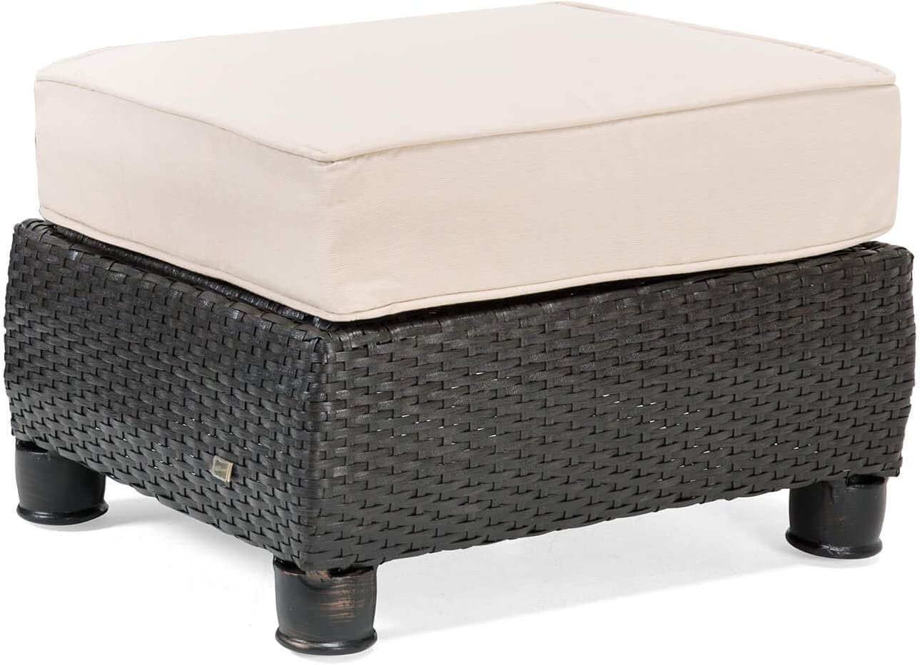 La-Z-Boy Outdoor BREQ1-N Patio Ottoman, Tan