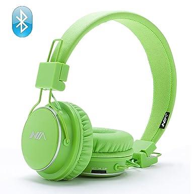 Auriculares inalámbricos Bluetooth, estéreo y plegables con micrófono para iPhone, Android y Supreme Comfort