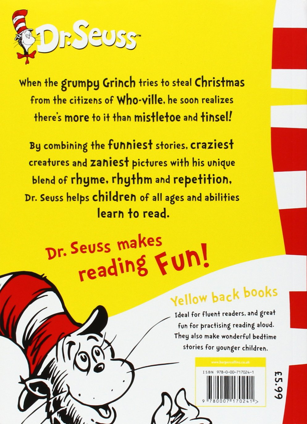 how the grinch stole christmas yellow back book dr seuss