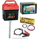 Weidezaungerät 9V 12V 230V inkl. Batterie!!! Weidezaun