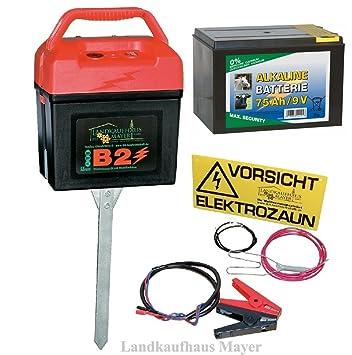 Hof- & Viehtechnik Weidezaungerät Weidezaunbatterie 9v 55ah Alkaline Weidezaun Batterie F