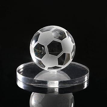 Amazon.com: m·kvfa - Pisapapeles de cristal, diseño de balón ...