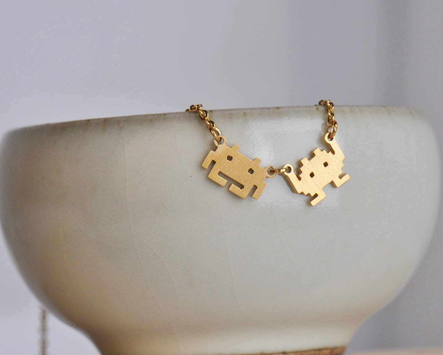 HUAN XUN Stainless Steel Couples Necklace Earrings Various Styles