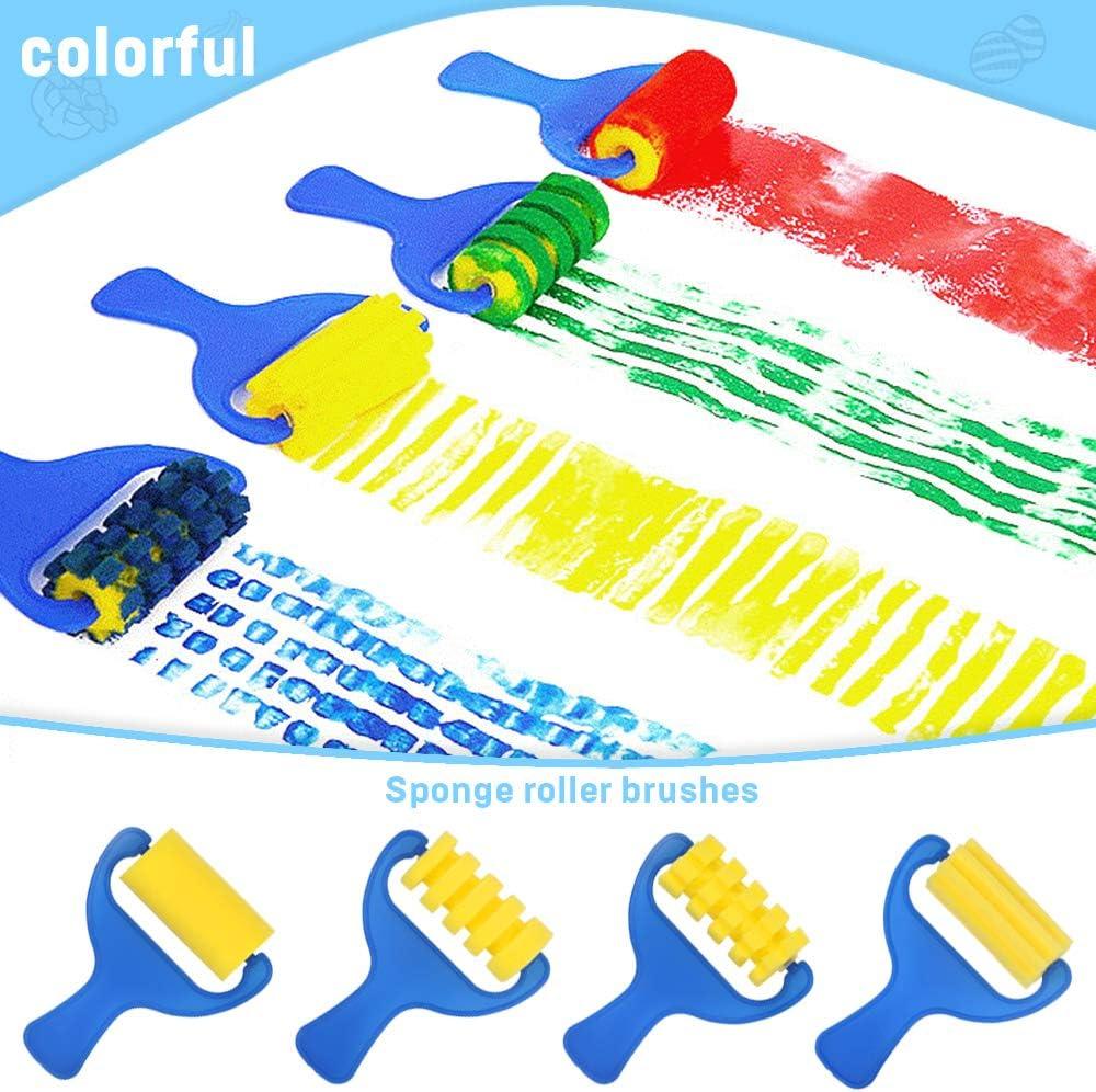 Sponge Paint Brush Seal Sponge Brush Wooden Handle Child Supply P3