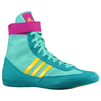 Adidas Combat Speed IV Adult Ringer Boots Wrestling – Emerald Pink Yellow 13c2b7d64
