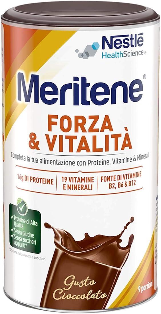 Meritene forza & vitalita` proteine in polvere - gusto cioccolato - barattolo 270g 8470001729040