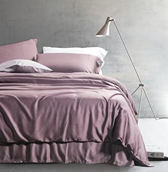 Amazoncom Eikei Solid Color Egyptian Cotton Duvet Cover Luxury