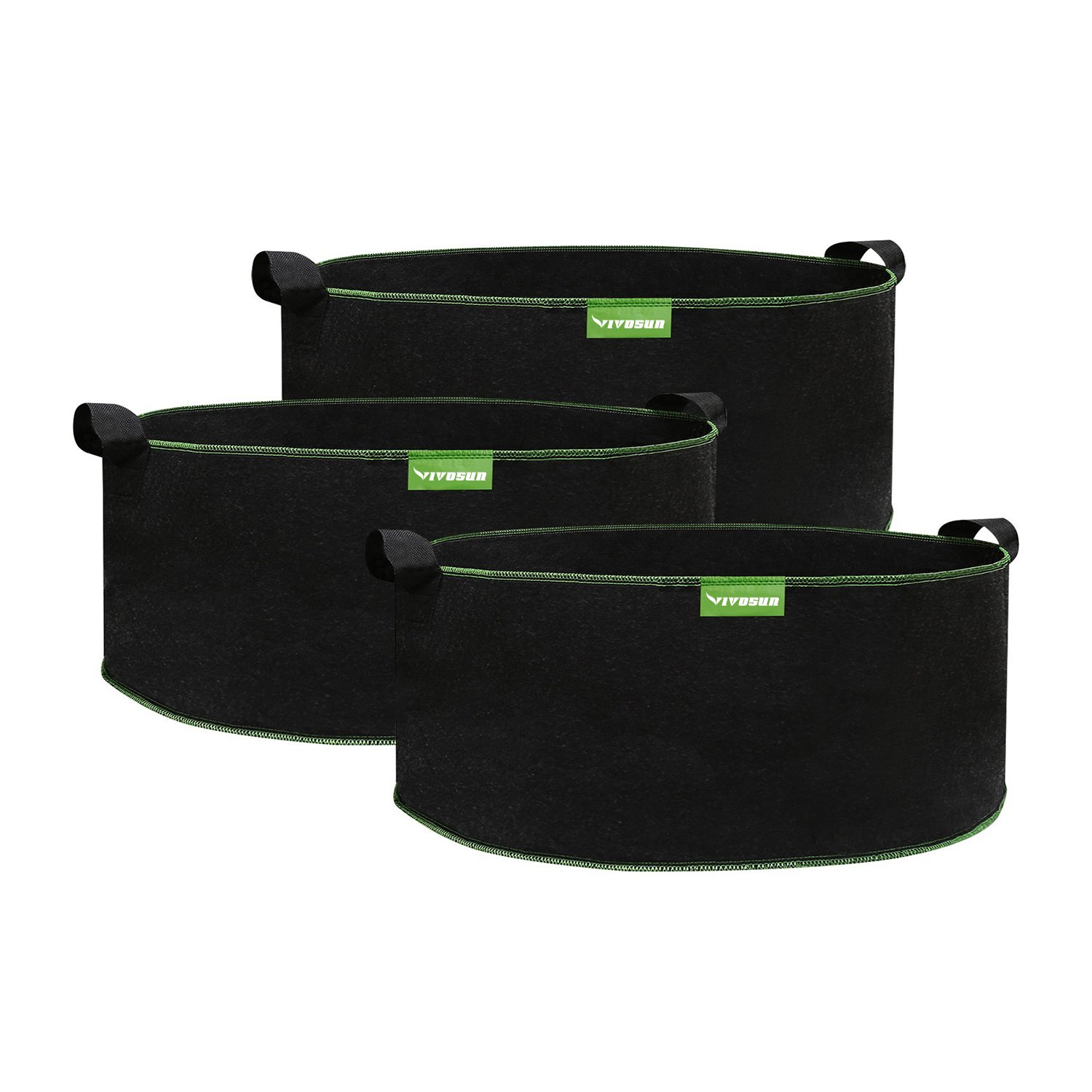 VIVOSUN Grow Bags 3-Pack 4 Gallons 350D Grow Bags with Handles and Reinforced Seam by VIVOSUN