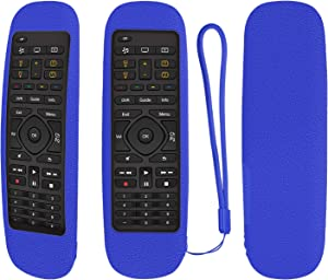 Protective Silicone Remote Case for Logitech Harmony Companion All in One Remote Control Shockproof Washable Skin-Friendly Remote Control Cover with Loop (Blue)