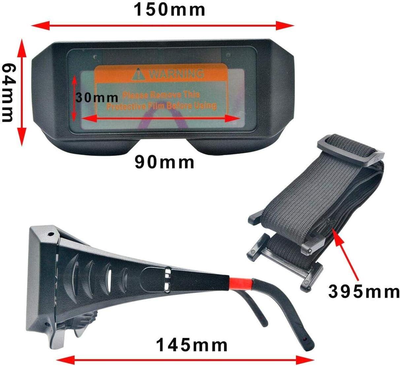 m/áscara de oscurecimiento autom/ático de LCD Gafas de Seguridad Soldador Soldadura Cascos LNIEGE Soldadura el/éctrica Solar Gafas