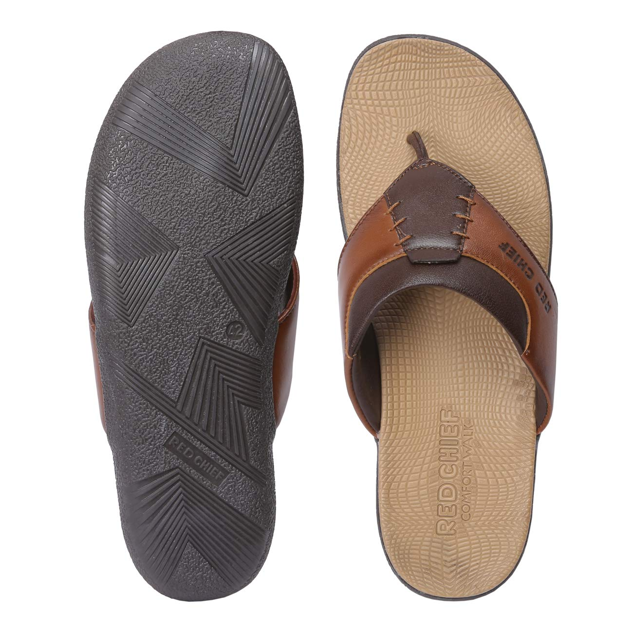 Red Chief Tan Leather Casual Slipper