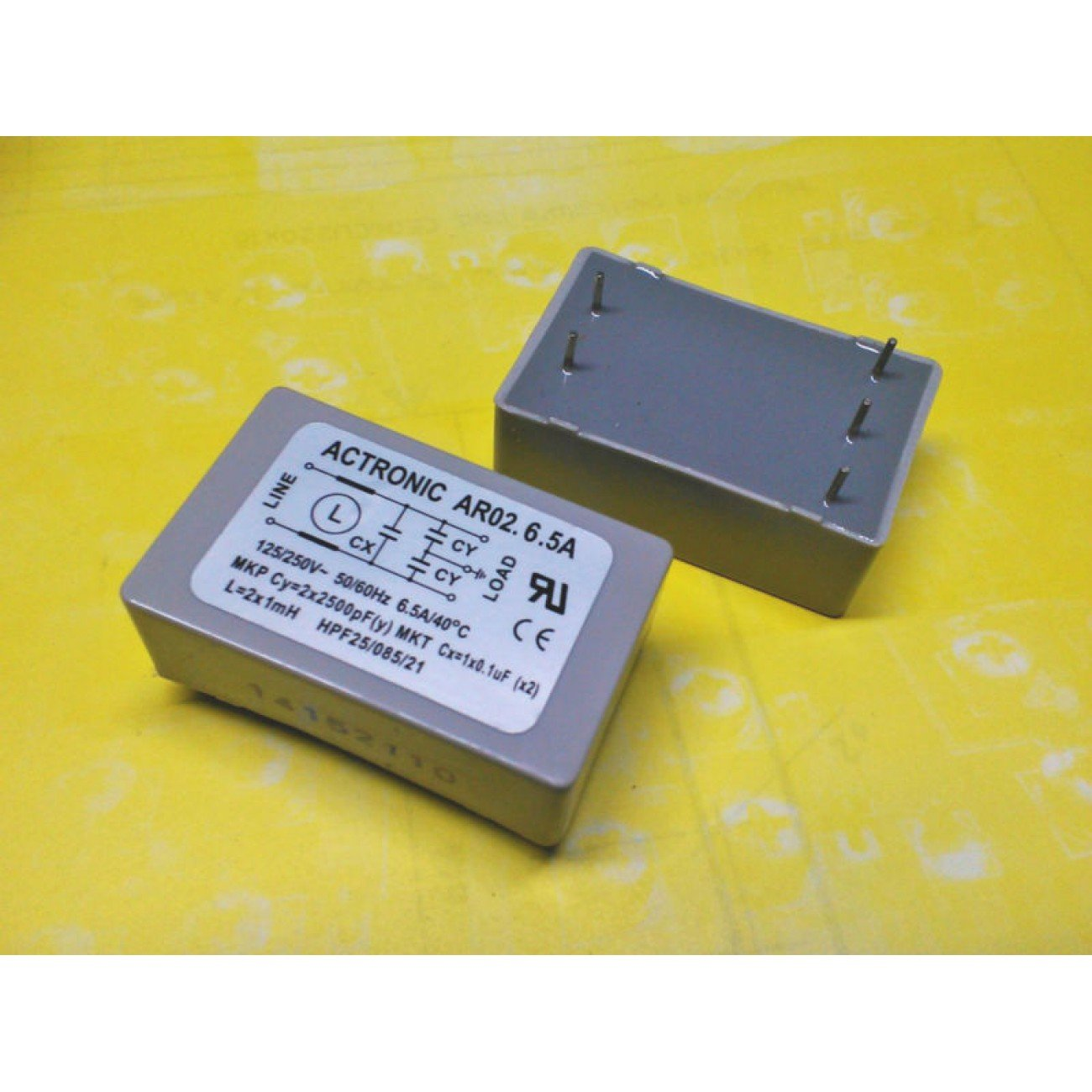 Filter network anti-interference printed circuit ACTRONIC mod AR02.6.5A