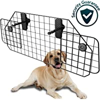 Car Dog Universal Pet Barrier - Zone Tech Premium Quality Black Heavy Duty Coated Wire Adjustable Mounted Headrest Barrier for Pet Safety Automotive