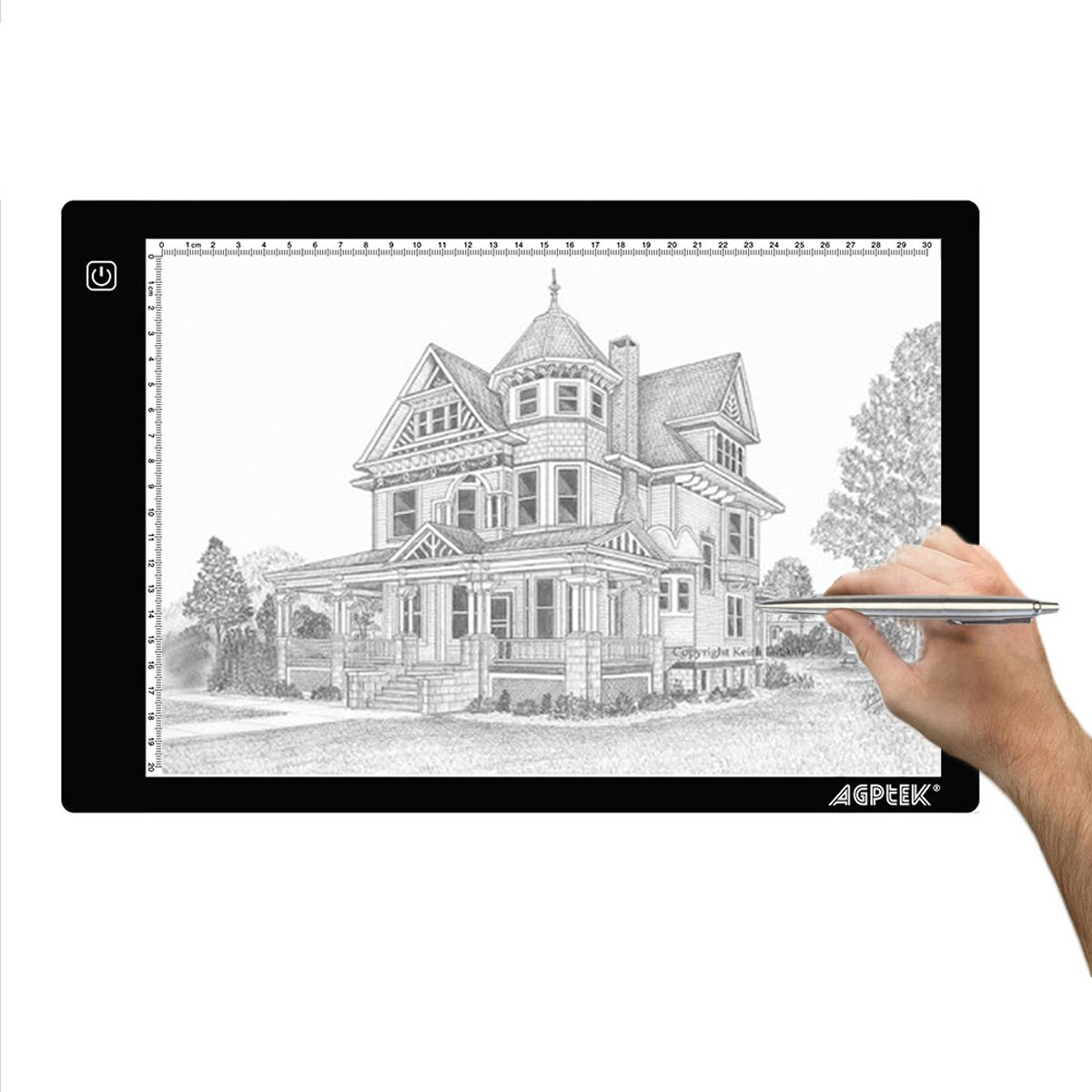AGPtek 17-Inch A4 Size Portable LED Artcraft Tracing Light Pad Light Box Brightness Control with USB Adapter For Artists, Drawing, Sketching, Animation, X-ray Viewing, Sewing, Tattoo, Quilting