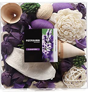 Qingbei Rina Gift Lavender Scent Potpourri Bag Clear Gift Box, Dried Flower Bowl and Vase Filler, Home Fragrance Perfume Sachet, Good for Filling a Bowl of 33 Fl-oz(Purple)