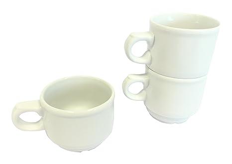 Martín Berasategui Paraíso - Set de 12 tazas de café, 0,105 l, color blanco