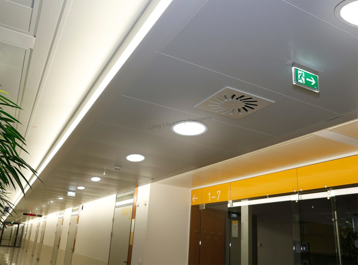 24w Led Recessed Ceiling Panel Round Ultra Slim Flat Down Light 300mm 5056151709427 Ebay