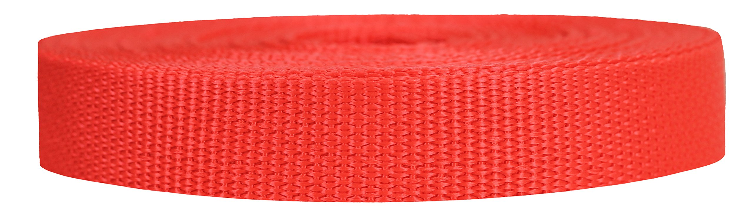Strapworks Lightweight Polypropylene Webbing - Poly Strapping for Outdoor DIY Gear Repair, Pet Collars, Crafts - 3/4 Inch by 10, 25, or 50 Yards, Over 20 Colors by Strapworks